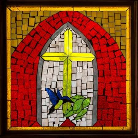Stained Glass Cross II Poster Print by Kathy Mahan - Stained Glass Crosses
