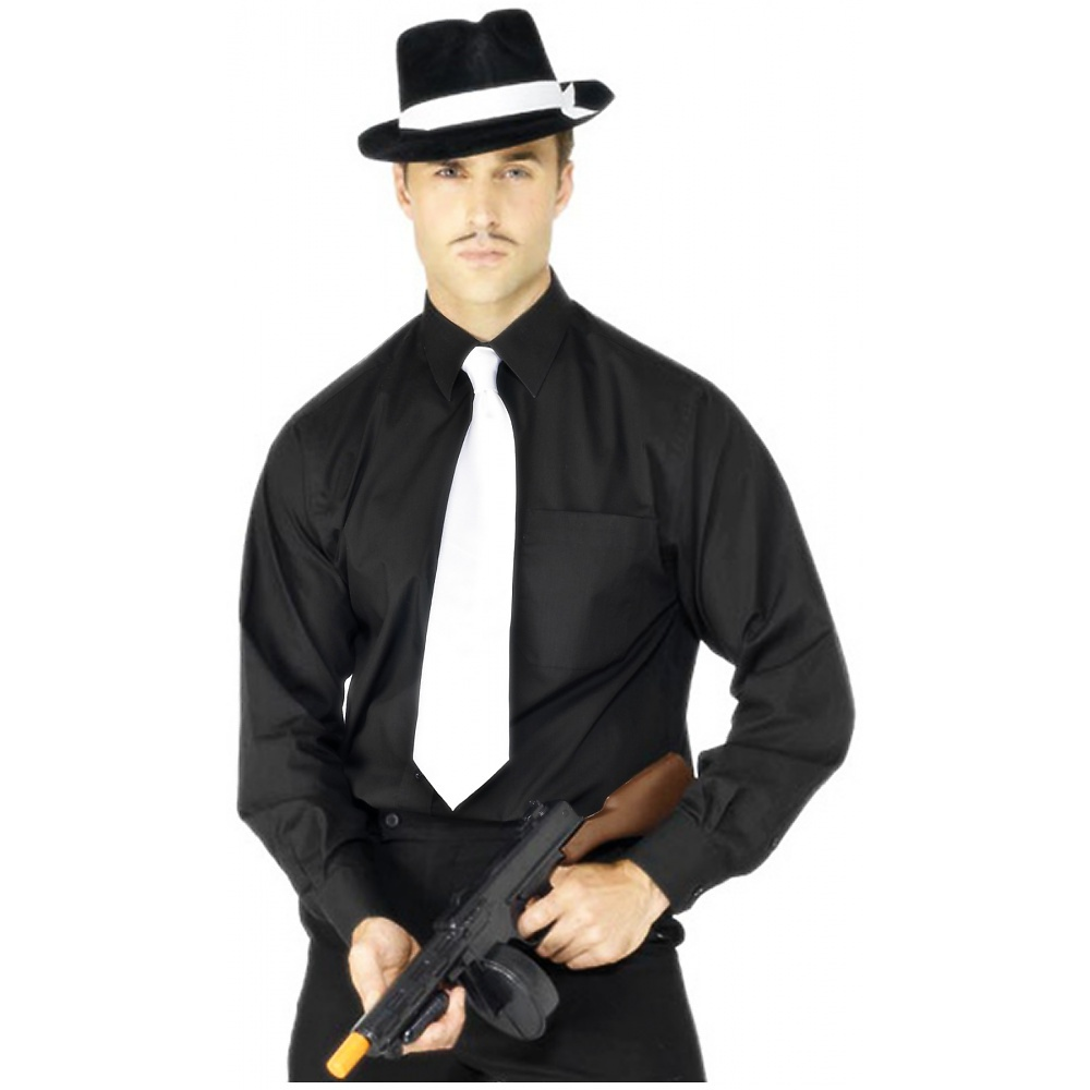 Deluxe White Gangster Tie Adult Costume Accessory