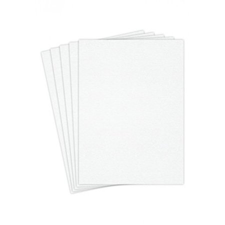 "Blank Heavyweight White Linen Textured Cardstock, 8 1/2"" X 11"" Inches Card Stock 