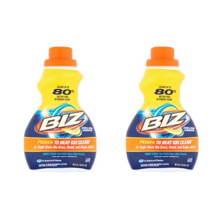Scent Eliminator Spray Liquid - (2 Pack) Biz Stain & Odor Eliminator Liquid, 50 fl oz