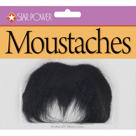 Star Power Adult Bushy Long Gunslinger Moustache, Black, One Size](Plus Size Adult Stars)