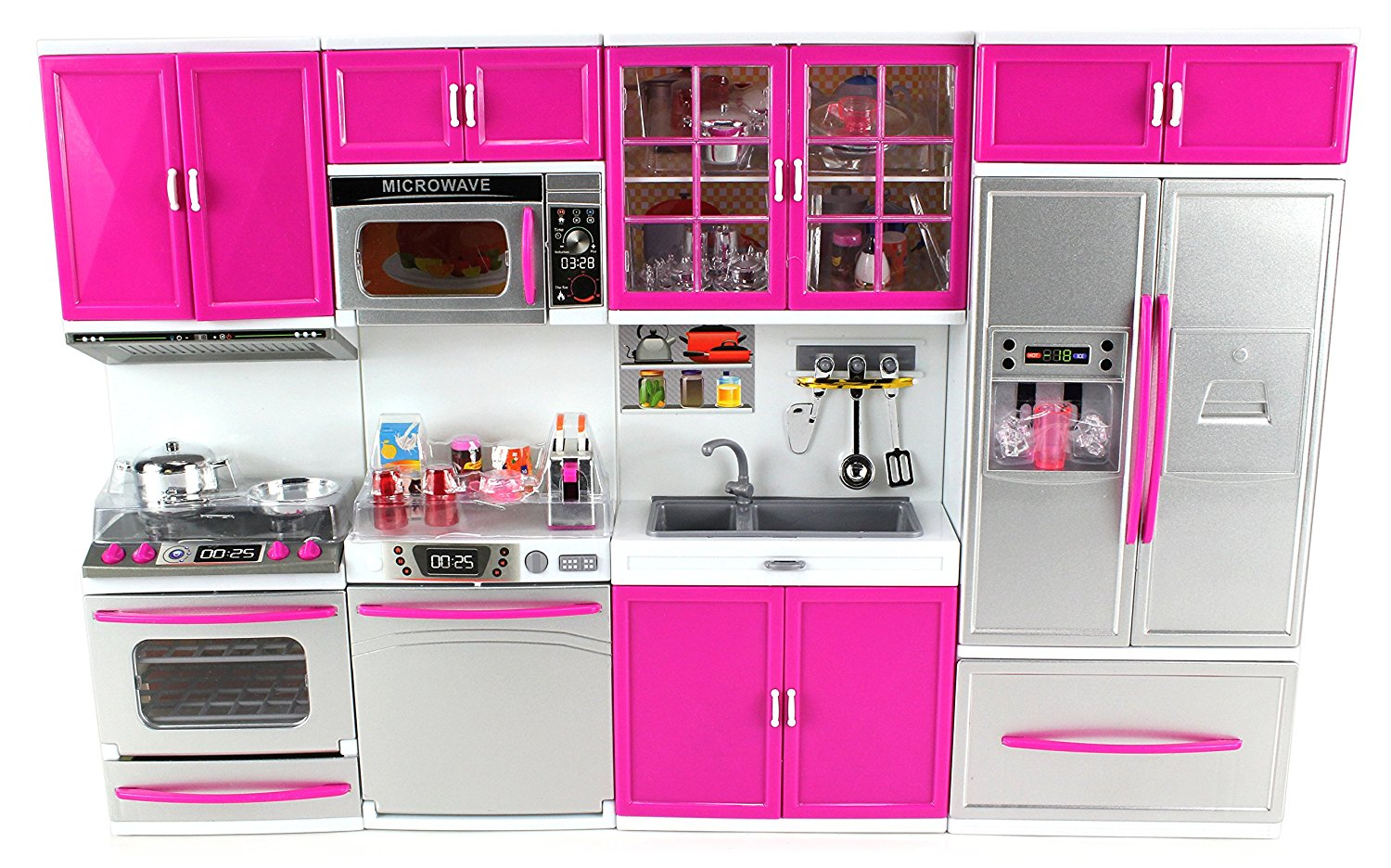My Modern Kitchen Full Deluxe Kit Battery Operated Toy Doll Kitchen