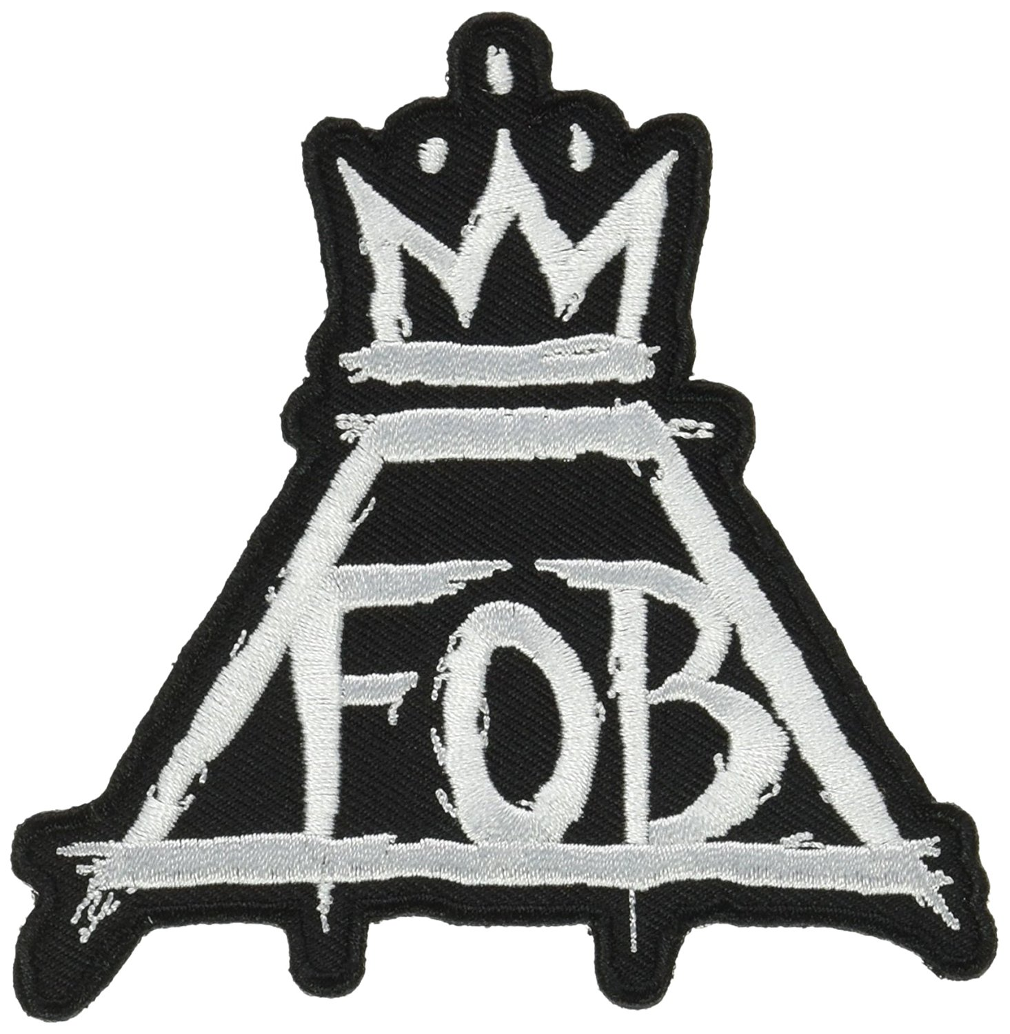 "Application Fall Out Boy Crown 3.5"" logo Iron on Sew Applique Patch"