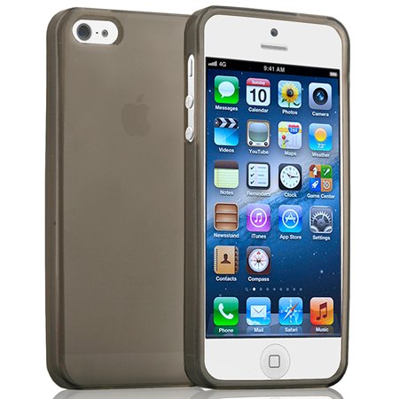 NAZTECH TINT SMOKE TPU CANDY SKIN FLEXIBLE CASE HARD/SOFT COVER FOR iPHONE 5