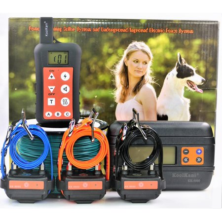 Three-Dog Set: Remote Dog Training Shock Collar & Underground/ In-ground Electronic Dog Containment Fence System Combo for Small,Medium,Large
