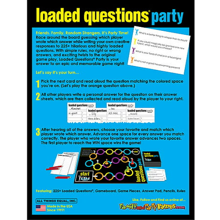 Loaded Questions Party Game