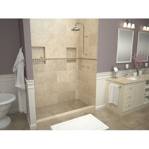 Tile Redi Single Threshold Shower Base with Drain Top