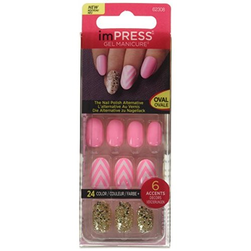 Kiss imPRESS (NEXT WAVE) Oval Short Press-On Manicure Nails