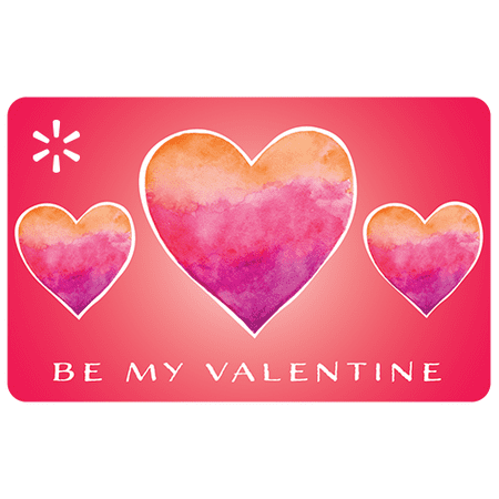 Vday Watercolor Hearts Walmart eGift Card