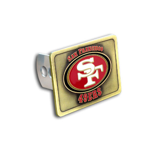 San Francisco 49ers Official NFL Hitch Cover by Siskiyou 490750