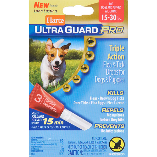 Hartz UltraGuard Pro Flea and Tick Drops for Dogs 16-30lbs