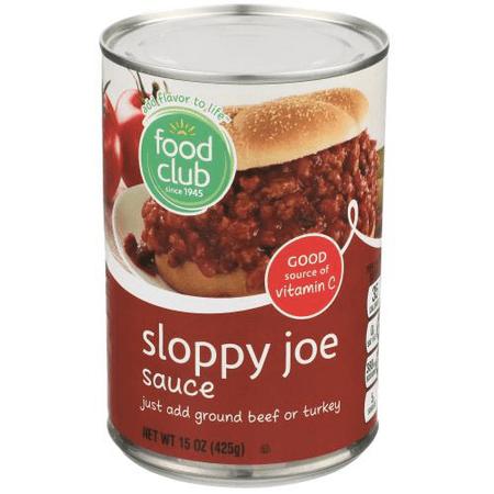 Food Club, Sloppy Joe Sauce