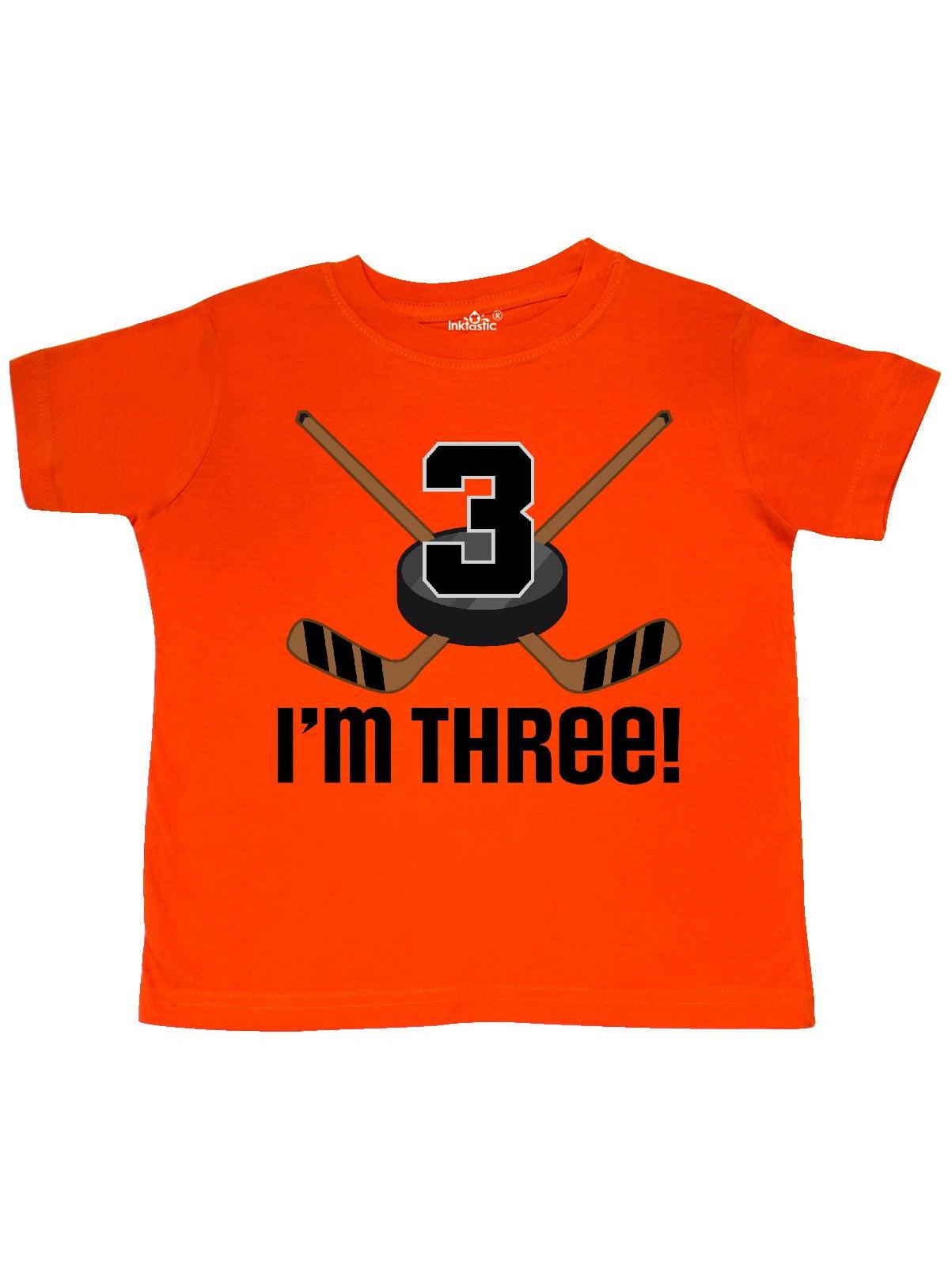 3rd Birthday Ice Hockey Sports Boys Party Toddler T-Shirt