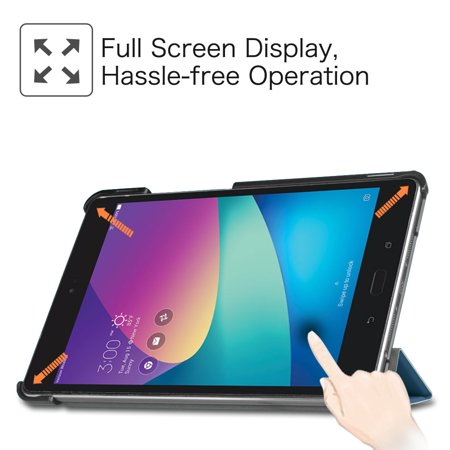 Fintie SlimShell Case for Verizon ASUS ZenPad Z8s (ZT582KL) - Ultra Lightweight Stand Cover W/ Auto Wake/Sleep, Navy - image 4 de 7