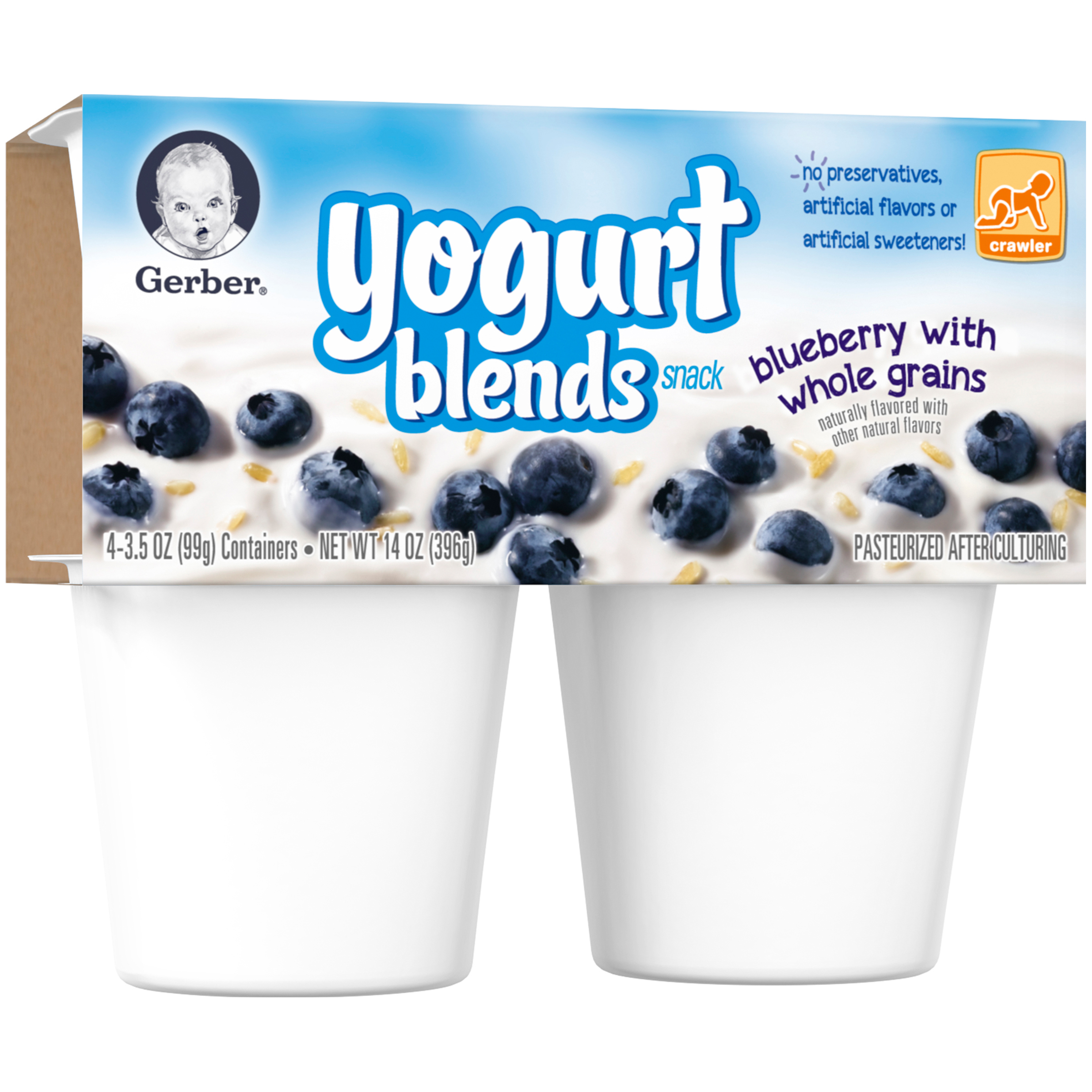 Gerber�� Yogurt Blends Snack Blueberry with Whole Grain Yogurt 4-3.5 oz. Cups