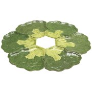 Broccoli Plate Set Collectible Vegetable Ceramic Glass Platter Dish
