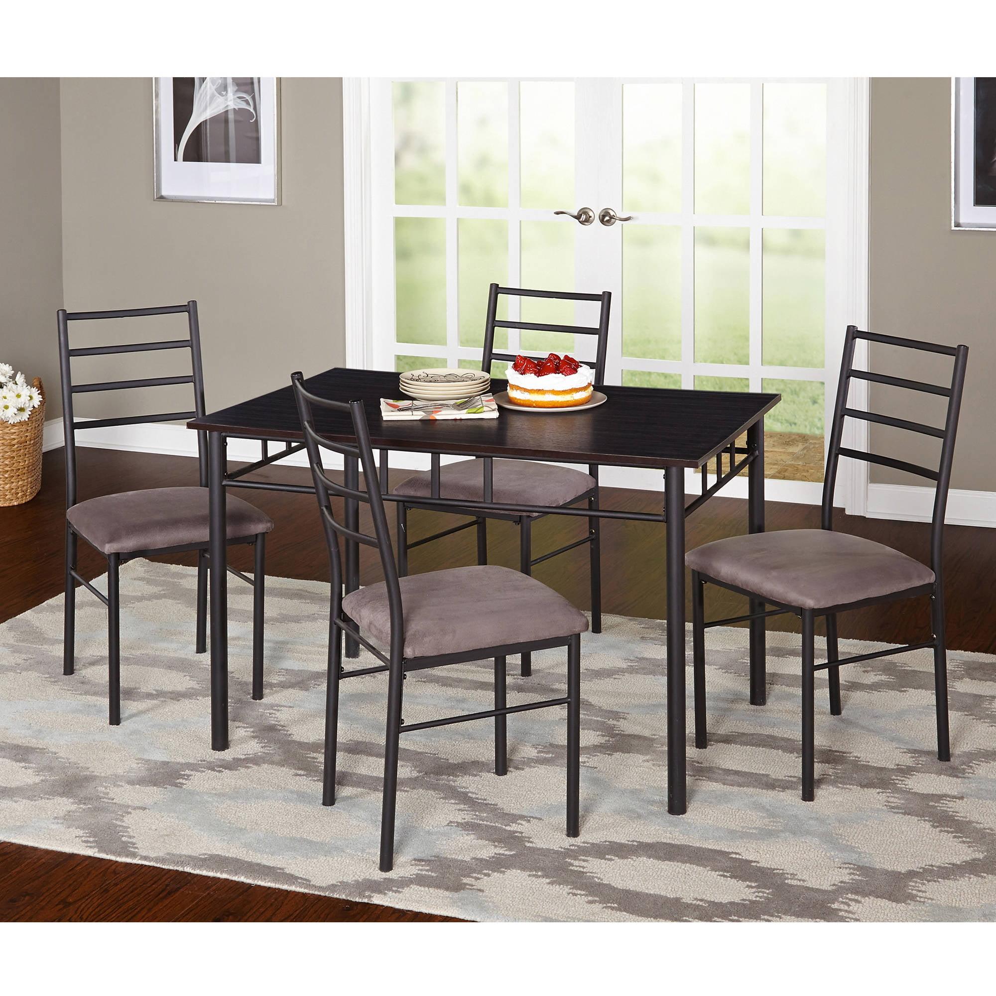 Liv 5-Piece Liv Dining Room Set, Black Gray by Target Marketing Systems Inc