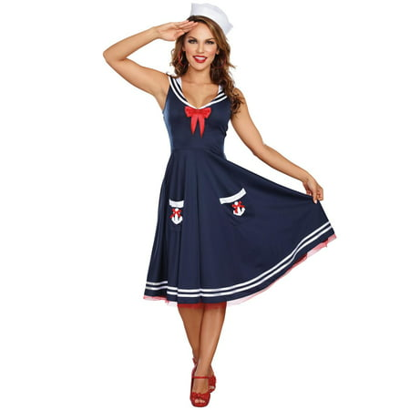 All Aboard Sailor Adult Costume M - M & M Costumes For Adults