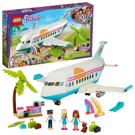 LEGO Friends Heartlake City Airplane 41429 Building Toy Inspires Travel Story-Making Play Scenarios (574 Pieces)