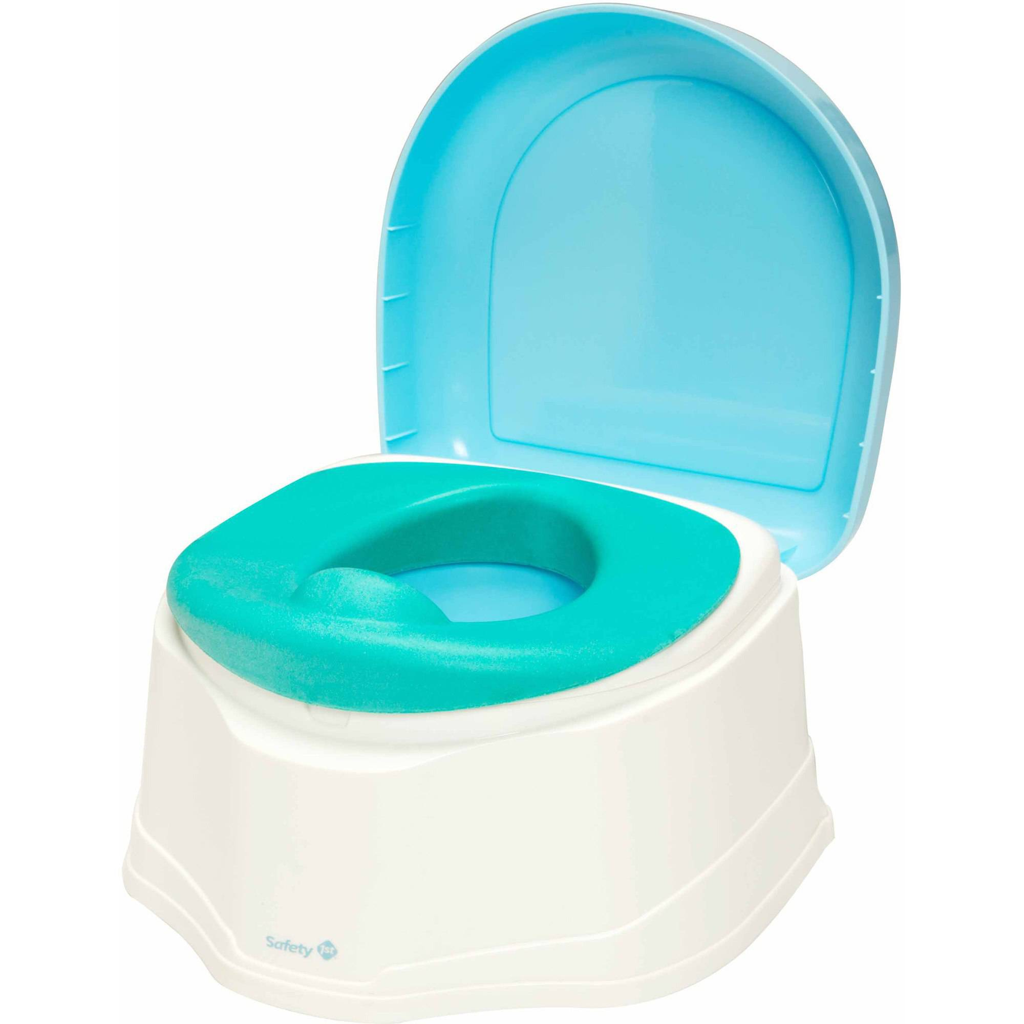 Safety 1st 3-in-1 Clean Comfort Toilet Trainer, White Aqua by Safety 1st