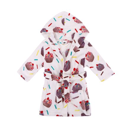 BASILICA - Baby Bath Robe Plush Super Soft Fleece Hooded Bathrobes Robe fc1ba983a