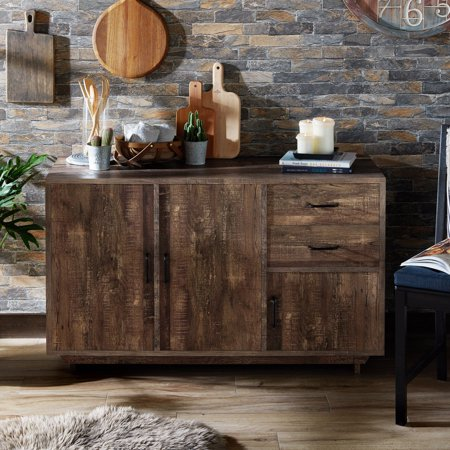 Furniture of America Lancaster Rustic Buffet Server