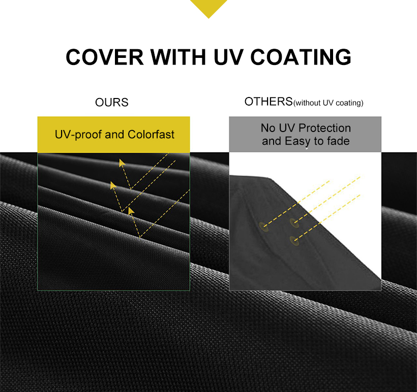 Grill Barbecue Grill Cover 58inch Waterproof Heavy Duty Oxford Cloth,Black - SortWise™ - image 2 of 5