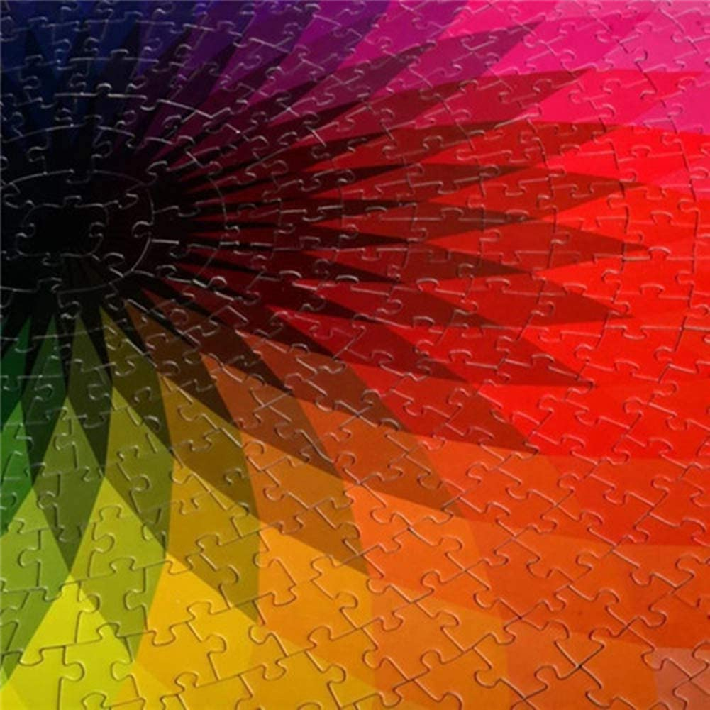 1000 Piece Puzzles Gradient Color Rainbow Large Round Jigsaw puzzle ship today