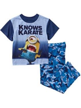 Despicable Me 2 PC Short Sleeve Pajama Set Boy Size 8