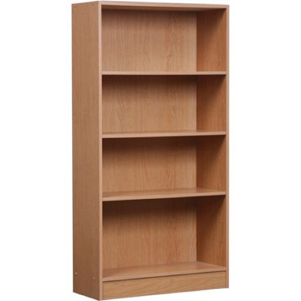Attirant Classic Style 4 Shelf Bookcase With Protective Kick Plate And Adjustable  Shelves (Oak)