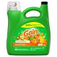 Gain Island Fresh HE, Liquid Laundry Detergent, 150 Fl Oz 96 loads