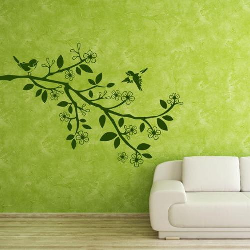 Style and Apply Sparrow Branch Floral Vinyl Wall Art