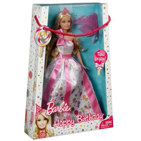 Barbie Princess Happy Birthday Doll with Tiara - Birthday Barbie