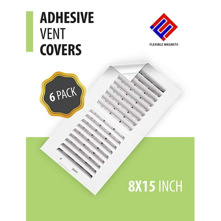 VENT COVER ADHESIVE Register Cover for Air Vents & Looks like a Vent Grille! An AC Vent Deflector that