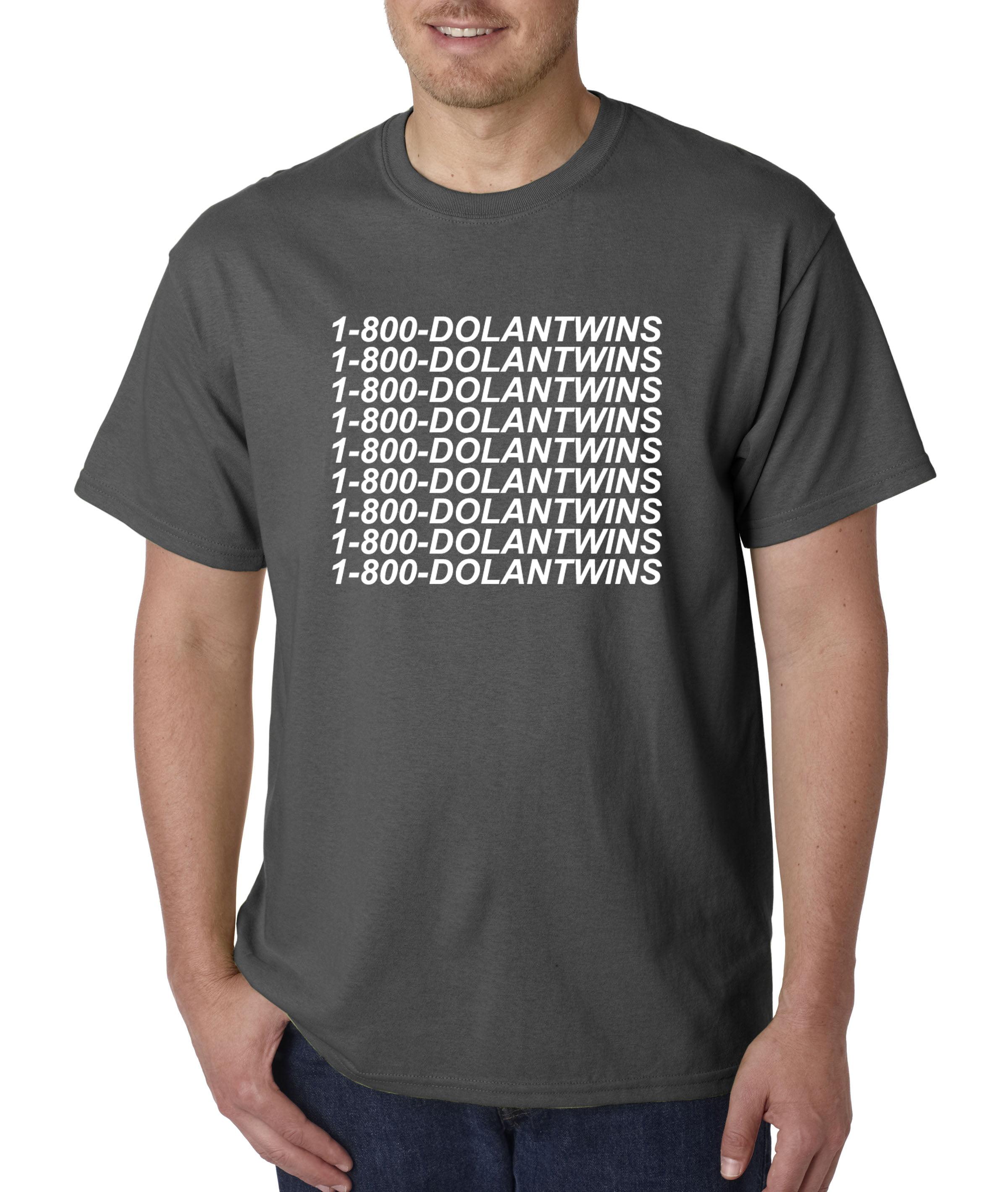 5cd02b708 New Way - 761 - Unisex T-Shirt 1-800-DOLANTWINS Dolan Twins Hotline Bling  2XL Charcoal - Walmart.com