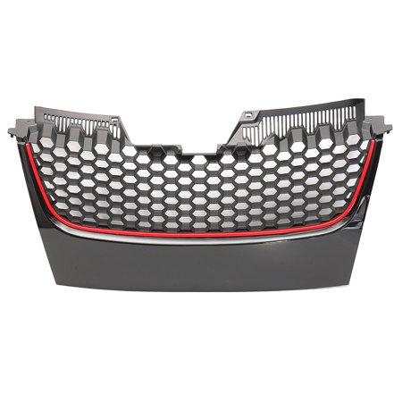 1Pcs Front Bumper Grill Grille With GTI Badge For VW MK5 Golf Jetta Front Grille GT Sport 2006 (Vw Golf Grill)