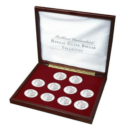 American Coin Treasures Brilliant Uncirculated Morgan Silver Dollar Collection Display Box