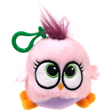 Angry Birds Hatchlings Pink & Purple Plush Clip - Big Pink Bird