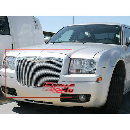 Fits 05-10 Chrysler 300/300C Vertical Main Upper Billet Grille Insert #R65155V ()