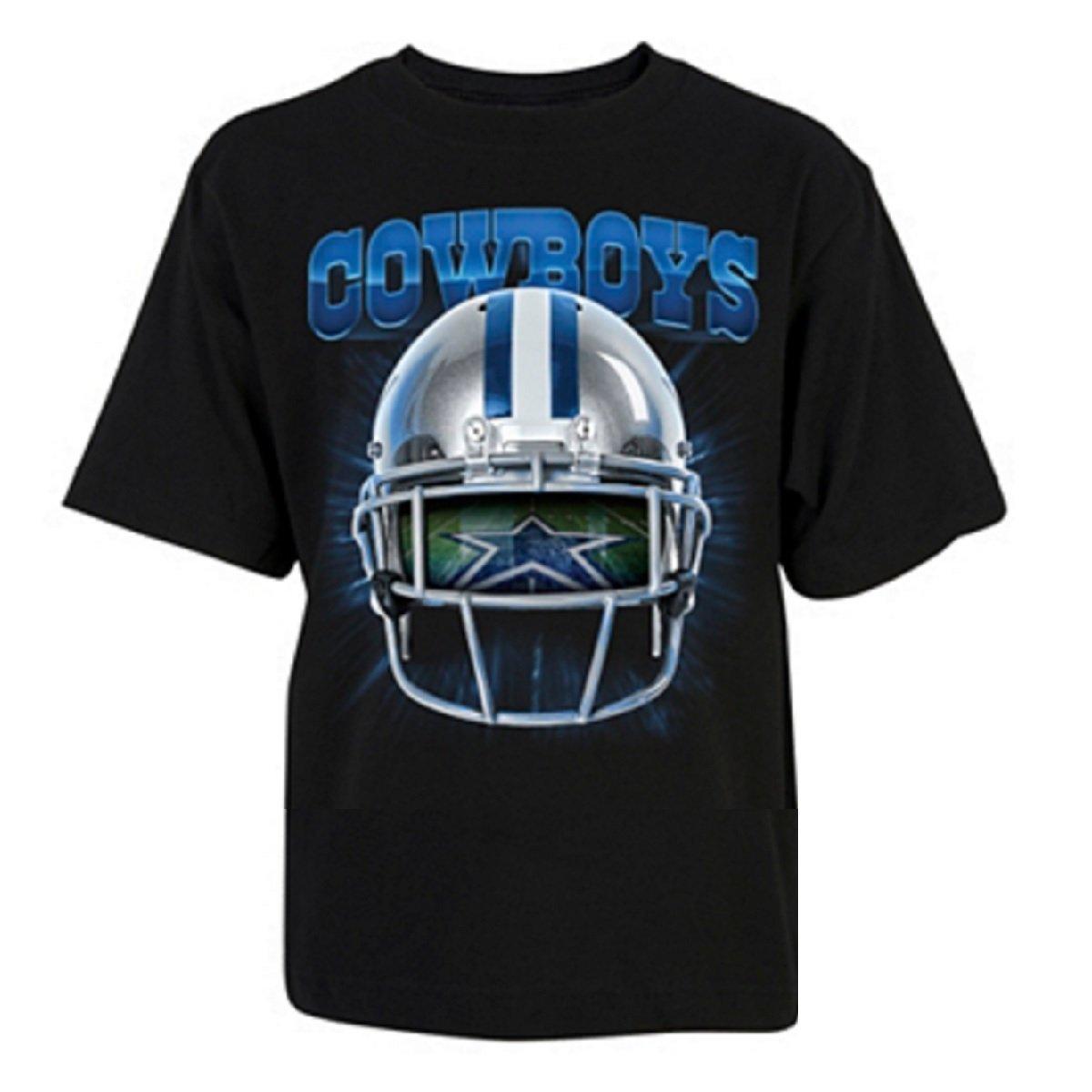 Dallas Cowboys Youth Helmet Vision Navy T-Shirt