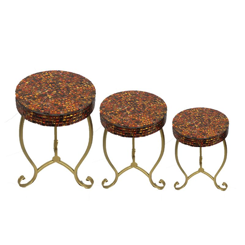 Entrada EN23039 3 Piece Round Mosaic Table