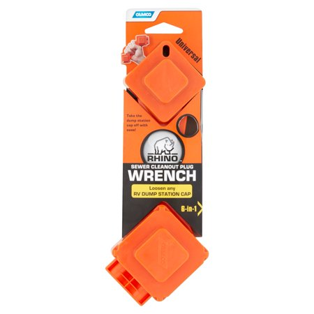 Camco Rhino 6 In 1 Universal Sewer Cleanout Plug Wrench