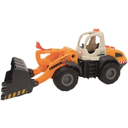 Dickie Toys Light and Sound Construction Front Loader (Loader Construction Toy)