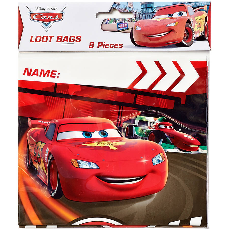 Cars Treat Bags, Pack of 8, Party Supplies
