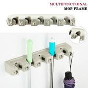 Magic Wall Mount Mop Holder Brush Broom Hanger Kitchen Tool Organizer