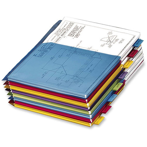 Cardinal Poly Expanding Pocket Index Dividers, 8-Tab, Letter, Multicolor, per Pack