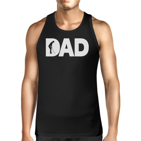 365 Printing Dad Golf Mens Black Cotton Tank Top Funny Graphic Tee For Gold (365 Golf)