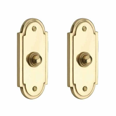 2 Colonial Brass Push Button Door Bell 4