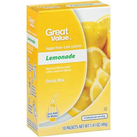 Great Valueâ ¢ Lemonade Drink Mix 1.41 oz. Box