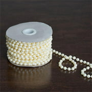 BalsaCircle 12 yards 6mm Faux Pearls String Beads - Wedding Party Home Crafts DIY Favors Centerpieces Fillers Decorations